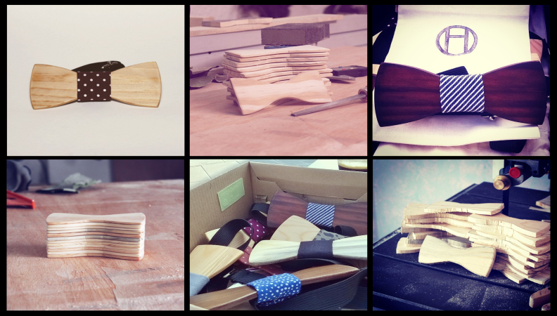 Bold and Delightful Wooden Bow Ties