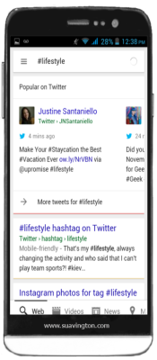 Lifestyle Tweets in Google Mobile Search