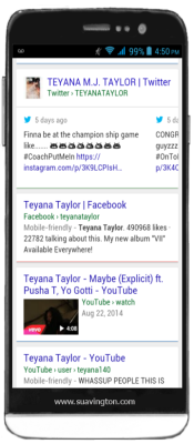 Teyana Taylor - Tweets in Mobile Search